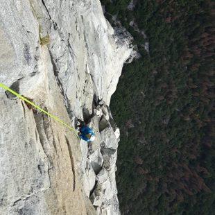 Adam Ondra en The nose de Yosemite  (Foto: Heinz Zak)