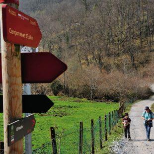 Senderismo familiar en el Camino Natural de la Cordillera Cantábrica. Asturias  (ANTONIO RODRÍGUEZ)