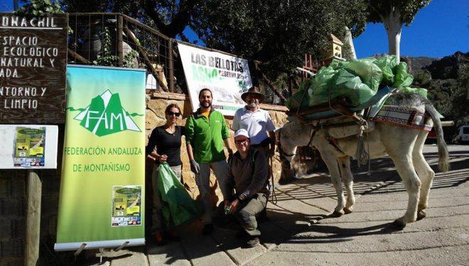 Campaña de limpieza Los Cahorros de Monachil