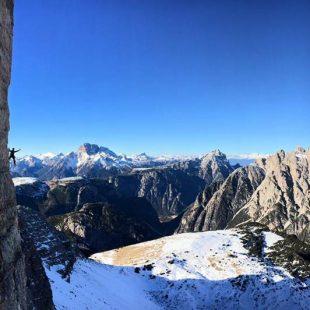 Vittorio Messini en la Cassin a la Cima Ovest  (Col. S. Gietl)