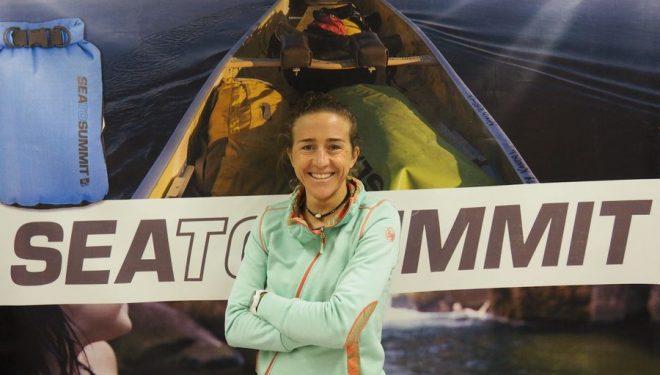 Núria Picas en la presentación del acuerdo con Sea to Summit.  ()