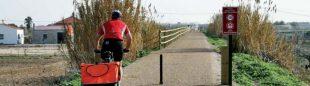 Ciclista por la vía verde del Guadiana  ()