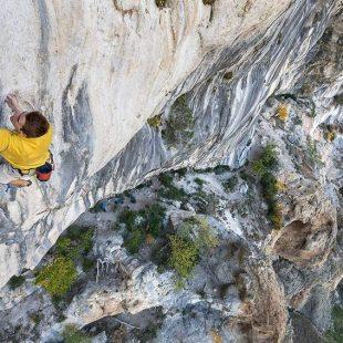 Seb Bouin en pleno esfuerzo durante una de sus escaladas  (Bernardo Giménez)
