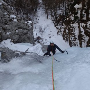 Santi Padrós y Fabrizio della Rosa abren La Fata en Val di Zoldo (Dolomitas)  (Col. S. Padrós)