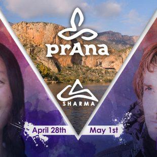 Cartel del taller de yoga y escalada en Sharma Climbing BCN  ()
