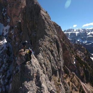 Escalando la arista del pico Juac