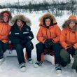 Chus Lago (segunda por la izquierda) dirigió una expedición femenina a Laponia que
