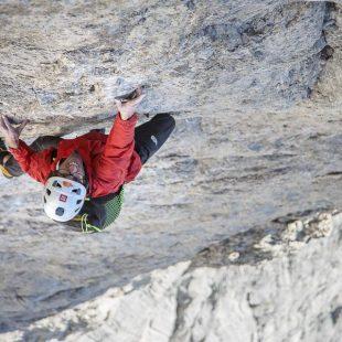"""Hansjörg Auer en la Vinatzer-Messner"""" (800 m.)"""