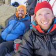 Alik Berg y Quentin Roberts en el Chacraraju Este  (Col. Q. Roberts)