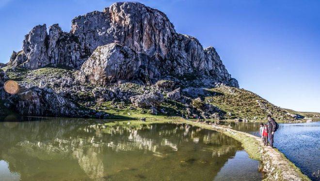 Lago Ercina. Ruta de los Lagos de Covadonga (PR PNPE-2). Cangas de Onis. Asturias (Finalista concurso Caminar tiene premio con Suunto)  (Ignacio Lombadero)