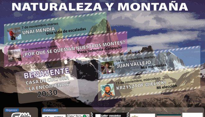 Cartel promocional de las X Jornadas de Naturaleza y Montaña de Benavente (Zamora)  (Club Montañero Deportivo Benaventero)