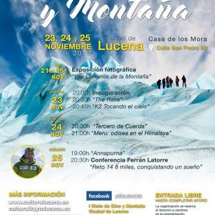 Cartel promocional con la programación del I Ciclo de Cine y Montaña  (Grupo de montaña Tiñojosa)