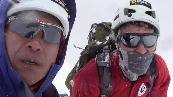Sung Taek Hong y Jorge Egocheaga en la cara sur del Lhotse. Octubre 2017  (Col. S.T. Hong)