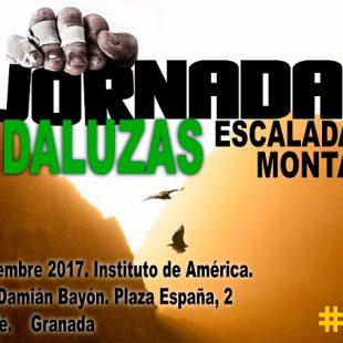 Cartel de las II Jornadas Andaluzas de Escalada y Montaña de Santa Fé (Granada)  (Federación Andaluza de Montañismo)