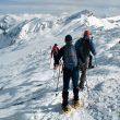Saliendo de la cumbre de Peña Labra hacia el Portillo de Juan Clara. en el medio el Pico Tres Mares