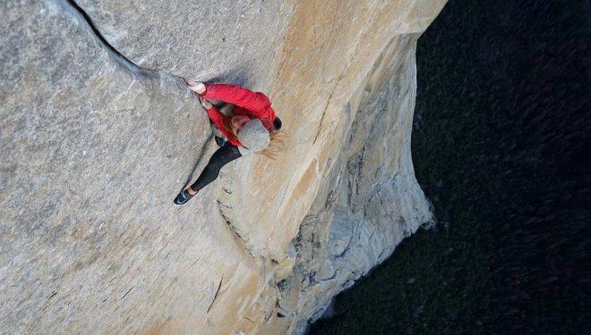 Hazel Findlay en Salathé Wall en El Capitan  (Foto: Jonny Baker)