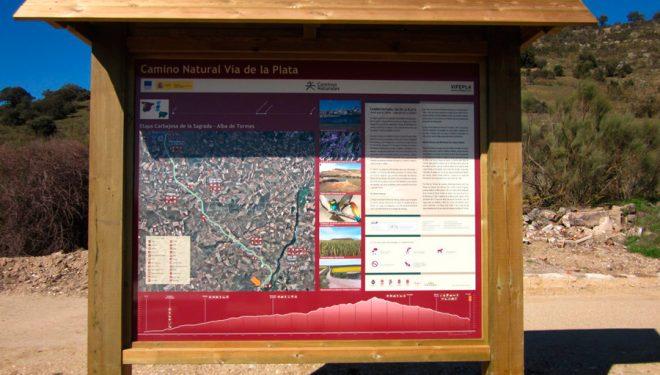 Mapa informativo del Camino Natural de la Plata  (Archivo Desnivel)