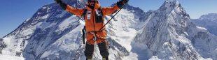 Alex Txikon en el Pumori cuya cima alcanzó con Ali Sadpara, Nuri Sherpa, Temba Bothe el 20 de Enero 2018.