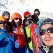 Alex Txikon y su equipo en el campo base del Everest 2018