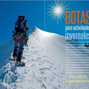 Artículo: Botas para actividades invernales, en la revista Desnivel nº 379
