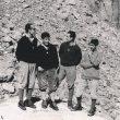 De izquierda a derecha, Faustino Durán, Carlos Soria, Antonio Durán y Antonio Riaño antes de la ascensión a la Oeste del Dru (1962)