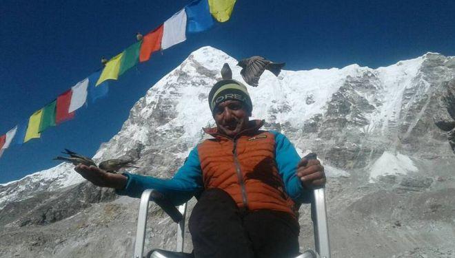 Ali Sadpara en el CB del Everest invernal (febrero 2018)