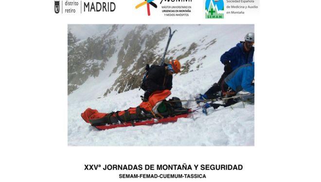 Cartel de las XXV jornadas de montaña y seguridad