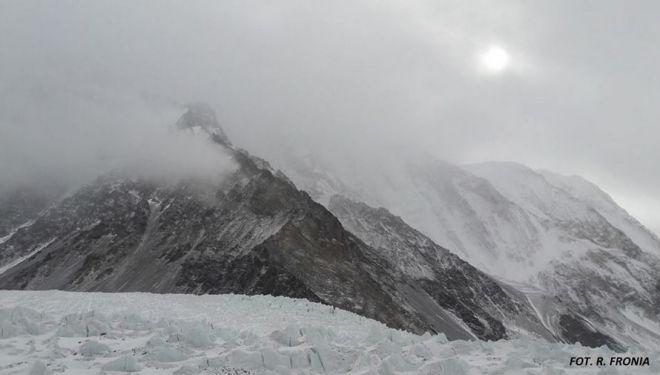 Tiempo nuboso en el CB del K2 invernal (febrero 2018)