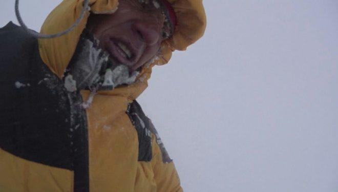 Denis Urubko a 7.600 en el K2 invernal 2018.