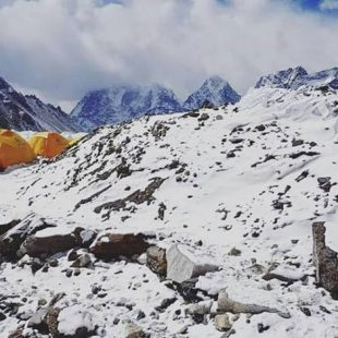 Campo base del Everest invernal (febrero 2018)