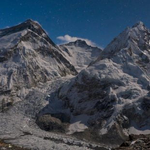 Cascada del Khumbu y Lhotse al fondo. 2018