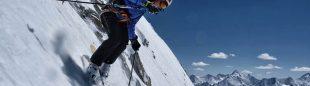 Carole Chambaret, Tiphaine Duperier y Boris Langenstein, primer descenso integral con esquís del Laila Peak