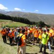 Participantes de la ruta senderista Pico Veleta Techo Dilar.