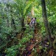 Iker y Eneko Pou aproximándose a la Aguja del Cao Grande en Sao Tome y Príncipe. 2018
