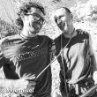 Urko Carmona e Iván Germán bromeando en la Cueva de Segovia.