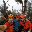 Eneko, Iker Pou y Manu Ponce en la cima del Cao Grande.
