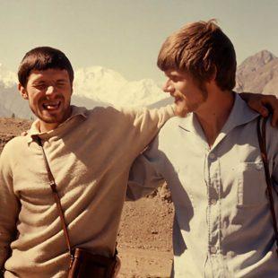 Günther (izq) y Reinhold Messner en el Nanga Parbat en 1970.