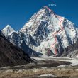 Ruta elegida por Andrzej Bargiel para intentar el primer descenso del K2 con esquís. Combina partes de la vía normal, la vasca y la de Kukuczka. 2018