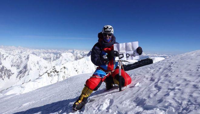 Sergi Mingote en la cumbre del Broad Peak. 2018