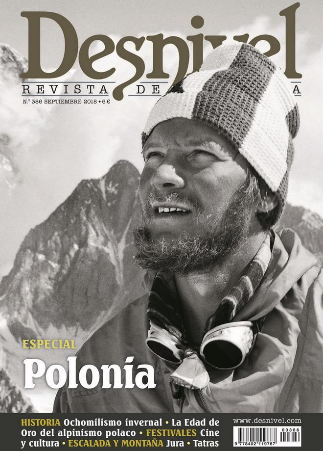 Portada de la revista Desnivel nº 386. Especial Polonia