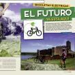 Apertura reportaje bicicletas eléctricas de la revista Grandes Espacios nº 246. Especial Cicloturismo.