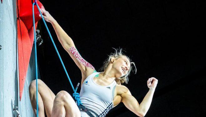 Janja Garnbret en el Campeonato del Mundo 2018, en Innsbruck