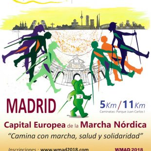 Cartel de la I Marcha Nórdica Expotural