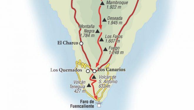 Ruta que va desde el área recreativa de El Pilar hasta el Faro de Fuencaliente.