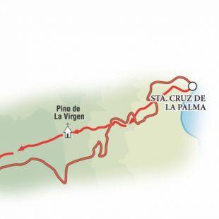 La ruta de los puertos, desde Santa Cruz de la Palma hasta el Perto de Tazacorte.
