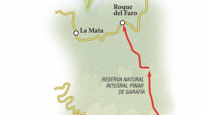 Ruta que va desde el Roque de los Muchachos hasta el Roque del Faro