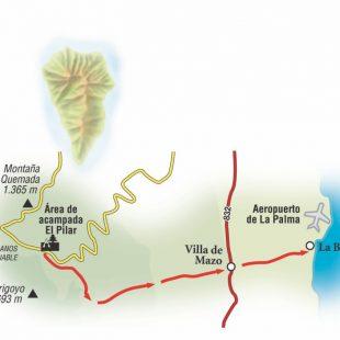 Ruta que va desde el Área de acampada El Pilar a La Bajita.