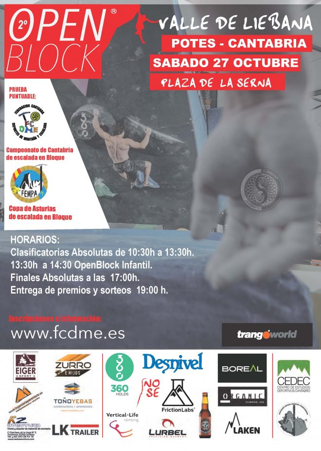 2º Open Block Valle de Liebana 2018