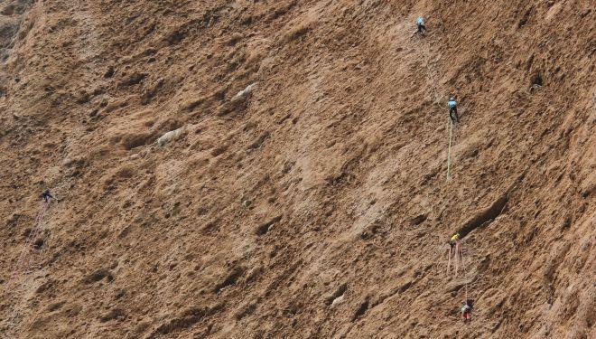 Cordadas en las 12 horas de escalada de Riglos 2018.