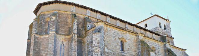 Iglesia de Santa María del Castillo. ruta del Románico en el Canal de Castilla